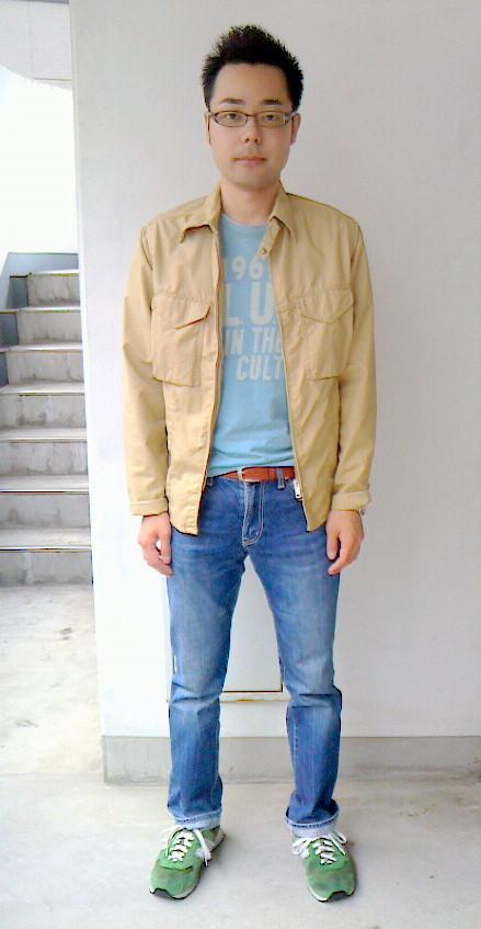 13avirexジャケット×blue blueTシャツ