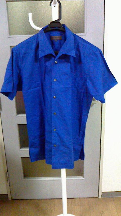 6青シャツ