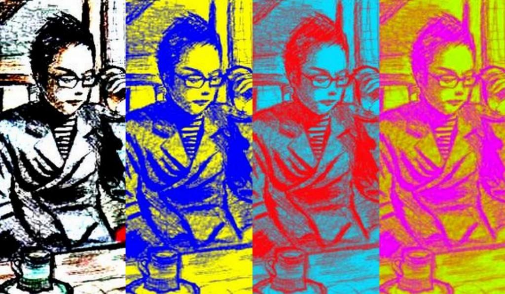 シカミミ氏・シルクスクリーン・2014
