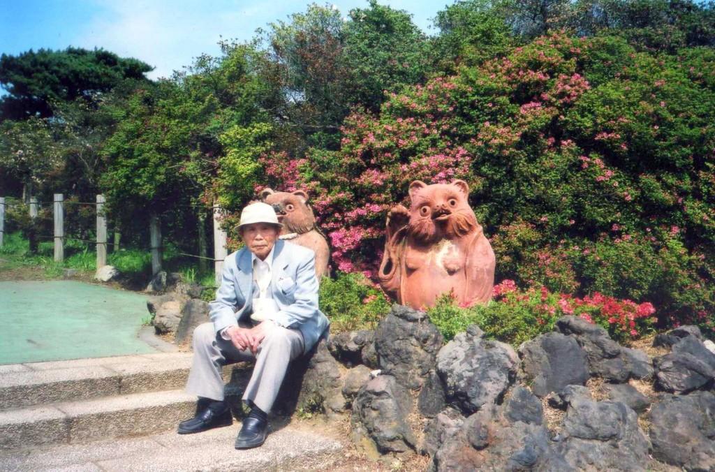 祖父花山にて